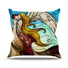 In the Arms of the Angel Outdoor Throw Pillow