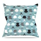 Hats Off to You Throw Pillow Size: 26'' H x 26'' W x 5