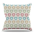 My Hearts Throw Pillow Size: 26'' H x 26'' W x 5