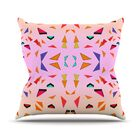Candy Land Tropical Throw Pillow Size: 26