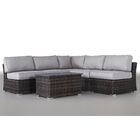 Huddleson 6 Piece Sectional Set with Cushions Frame Finish: Espresso