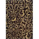 Bienville Black/Gold Area Rug Rug Size: Rectangle 10' x 13'