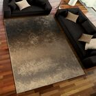 Faded Metal Pewter Area Rug Rug Size: 7'10