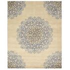 Marion Hand-Woven Ivory/Blue Area Rug Rug Size: 7'9