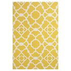 Hand-Tufted Yellow / White Area Rug Rug Size: Rectangle 7'6