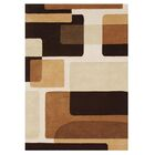 Hand-Tufted Brown Area Rug Rug Size: Rectangle 8' x 10'