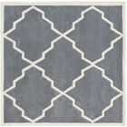 Milwaukie Hand-Tufted Gray Area Rug Rug Size: Square 6'