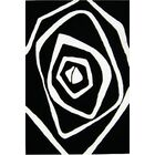 Nortons Hand-Tufted Black/White Area Rug Rug Size: Rectangle 5' x 8'