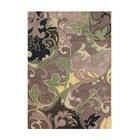 Walden Hand-Tufted Brown/Green Area Rug Rug Size: Rectangle 8' x 10'