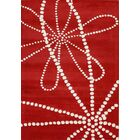 Lewiston Hand-Tufted Red Area Rug