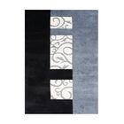 Rathdrum Hand-Tufted Black/Light Blue Area Rug