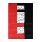Rexburg Hand-Tufted Red/Black Area Rug