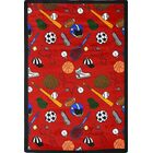 Red Area Rug Rug Size: 3'10