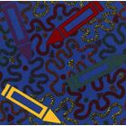 Blue Area Rug Rug Size: Square 12'