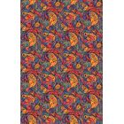 Blue/Red Area Rug Rug Size: 6' x 9'