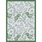 White/Green Area Rug Rug Size: 7'8