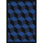 Blue Area Rug Rug Size: 7'8