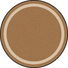 Brown Area Rug Rug Size: Round 7'7