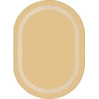 Sandstone Area Rug Rug Size: Oval 5'4
