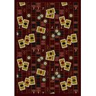 Burgundy Red Area Rug Rug Size: 7'8