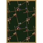 Snookered Emerald Green Area Rug Rug Size: 7'8