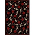 Black/Red Area Rug Rug Size: Rectangle 5'4