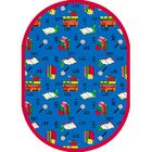 Bookworm Spanish Area Rug Rug Size: Oval 5'4