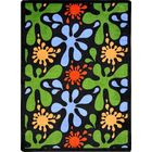 Blue/Green Area Rug Rug Size: 3'10