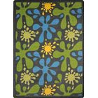 Green/Blue Area Rug Rug Size: 7'8
