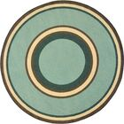 Hand-Tufled Green Area Rug Rug Size: Round 7'7