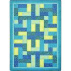 Hand-Tufled Blue Area Rug Rug Size: 3'10