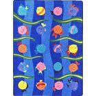 Blue Area Rug Rug Size: 5'4