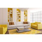Hand-Hooked Yellow/Ivory Area Rug Rug Size: Rectangle 8' x 10'