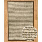 Hand-Woven Gray Area Rug Rug Size: Rectangle 5' x 8'