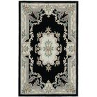Hand-Tufted Wool Black/Gray Area Rug Rug Size: Rectangle 4' x 6'