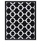 Hand-Woven Black/White Outdoor Area Rug Rug Size: Rectangle 5' x 8'