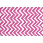 Hand-Hooked Pink/White Area Rug Rug Size: Rectangle 5' x 7'6