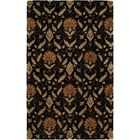Hand-Tufted Black Area Rug Rug Size: Runner 2'6