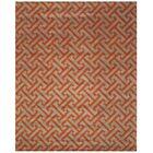 Terrance Hand Tufted Gray/Orange Area Rug Rug Size: Rectangle 8' x 10'