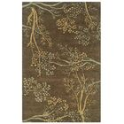 Hand-Tufted Brown Area Rug Rug Size: Rectangle 3' x 5'
