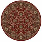 Persian Classics Oriental Mahal Red Area Rug Rug Size: Round 7'10