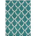 Horseshoe Hand-Tufted Peacock Green Area Rug Rug Size: 9' x 12'