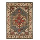 Geoffrey Hand Knotted Blue Area Rug Rug Size: 9' x 12'