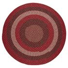 Handmade Red Brick Indoor/Outdoor Area Rug Rug Size: Round 10'