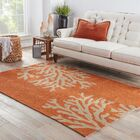 Fortson Hooked Orange Indoor/Outdoor Area Rug Rug Size: Rectangle 5' x 7'6