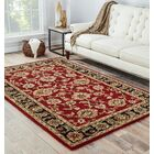 Hand-Tufted Red Area Rug Rug Size: Rectangle 10' x 14'