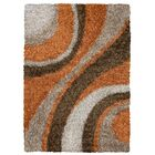 Hand-Tufted Brown Area Rug Rug Size: Rectangle 9' x 12'