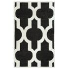 Hand-Tufted Charcoal Area Rug Rug Size: Rectangle 3' x 5'