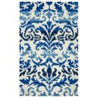 Hand-Tufted Blue/White Area Rug Rug Size: Rectangle 5' x 8'