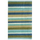 Hand-Woven Brown/Blue Area Rug Rug Size: Rectangle 8' x 10'